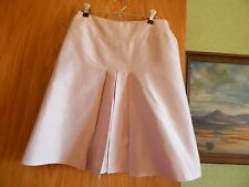 Tara Jarmon BEAUTIFUL PALE PINK SILK Skirt with front pleats US 6 France 36