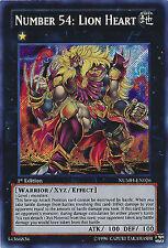 Yugioh NUMH-EN026 Number 54: Lion Heart Secret Rare