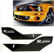 CAR RACING WIND FAN ALUMINUM BUMPER SPLITTER SPOILER WING X 2 PIECES BLACK