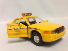 """CITY YELLOW CAB TAXI CAR, 5"""" DIECAST, 1:32 PULL BACK AND GO, TOYS, BOYS & GIRLS"""