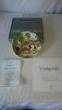 Wedgwood Limited Edition Plate A Cooling Drink Boxed Certificate  by J L Chapman