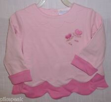 American Girl Bitty Baby Long Sleeve Solid Pink Pullover Top S-3 everyday Cotton