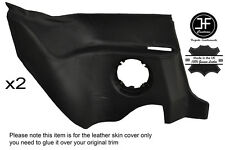 BLACK STITCHING 2X REAR LOWER PANEL LEATHER COVER FITS RENAULT ALPINE GTA V6