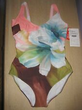 NWT DIVA by RACHEL PAPPO One-Piece UW Tank Swimsuit Size 10 46 Cup D or E