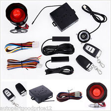 PKE Passive Keyless Entry Car Alarm System With Push Button Remote Control Start