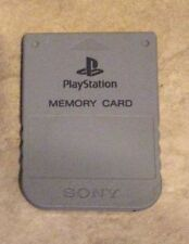 Playstation 1 Official Sony Brand memory card in gray color one great shape