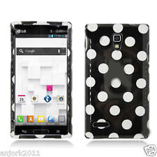 LG Optimus L9 T-Mobile P769 Snap-On Case Cover Accessory Black White Polka Dots