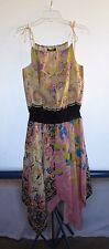 Betsey Johnson Multi-Color Floral Full Length Dress Women's Sz 6