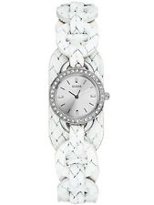 Guess W70027L1 Women Watch Quartz Silver Dial Stainless Steel Case With White
