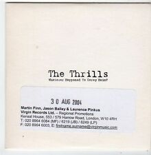 (FJ480) The Thrills, Whatever Happened to Corey Haim? - 2004 DJ CD