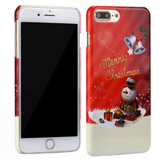Christmas Pattern Plastic Hard Back Cover Skin For iPhone 7 Plus 5.5Inch Case UK