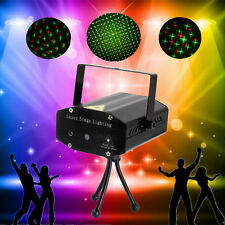 Black Mini Projector DJ Disco Light Stage R&G Party Laser Lighting Show UK Plug