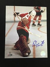 BERNIE PARENT AUTOGRAPHED PHILADELPHIA FLYERS 8X10 PHOTO W/COA #4