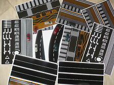 LOT 12 MATT SELF ADHESIVE SHEETS WITH ROADS AND PARKING HO SCALE