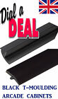 20FT ROLL NEW 18mm High Gloss Black ARCADE T-moulding 3/4