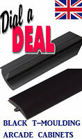 40FT ROLL NEW 18mm High Gloss Black ARCADE T-moulding 3/4