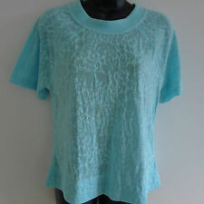 ADIDAS STELLA MCCARTNEY Sky Blue PRACTICE TEE XS Top LACE Barricade T-SHIRT New
