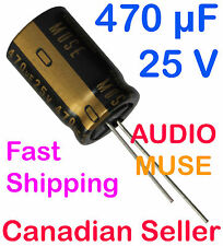 2pcs 470uF 25V 16x25mm Nichicon KZ MUSE Audio for Amplifier Stereo Hi-Fi Radio
