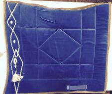 Satteldecke Schabracke Barock Show Dressur iberisch blau