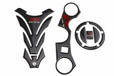 Tank Pad Carbon Protector 3D Sticker Decal Emblem One Set For GSXR1000 07-08 K7