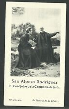 Estampa antigua de San Alonso Rodriguez andachtsbild santino holy card santini