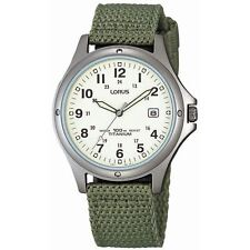 Lorus RXD425L8 Gents Mens Titanium Canvas Strap Watch New