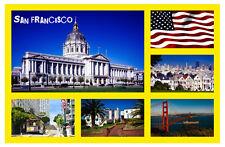 SAN FRANCISCO, USA - RECUERDO ORIGINAL IMÁN DE NEVERA - MONUMENTOS / CIUDADES