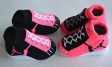 Nike Air Jordan 23 Baby Infant Booties socks crib shoes neon  pink black 0-6M