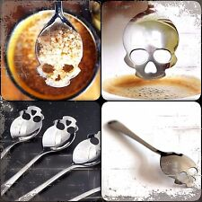 Skull Spoon Home Silverware Sugar Novelty Coffee Tea Stainless Steel HQ~