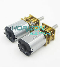 DC 12V 4000RPM Micro Speed Reduction Gear Motor with Metal Gearbox Wheel Shaft