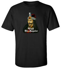 Vlad The Impaler T-shirt Funny Scary 100% Cotton Tee MU723