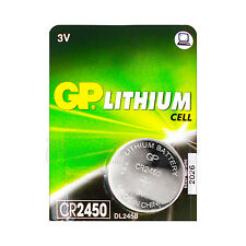 1 x GP Lithium CR2450 battery 3V Coin Cell DL2450 BR2450 Remote Watch EXP:2026