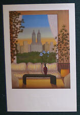 FANCH LEDAN 1986 LITHOGRAPH PRINT POP IMPRESSIONISM NEW YORK CITY CENTRAL PARK
