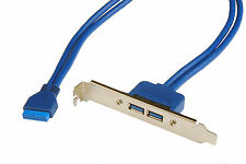 Pratique 2 Port USB 3.0 Femelle vers carte mère 20pin connexion interne