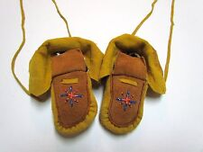 COZY NATIVE AMERICAN BEADED MOCCASINS, HIGHTOPS, CHILD, 4 INCHES