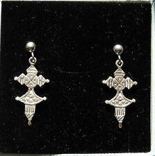 ORECCHINI con Piccola CROCE TUAREG -CROCE BERBERA-in argento 925 Sterling silver