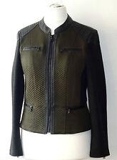 Taifun by Gerry Weber Damen Lederjacke Gr 42 Biker Style Jacke Blazer Damenjacke