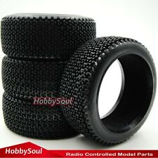 4pcs New 1/8 RC Off-road Buggy Rubber Soft Tires Tyres with foam