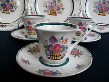 WEDGWOOD FLORAL #A6793- (c.1907-30's)- DEMITASSE CUP AND SAUCER (S)- EXCELLENT!!