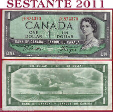 CANADA - 1 DOLLAR 1954  -  Serie VL  -  Sign Beattie & Coyne -  P 74a -  BB+/VF