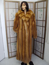 ~BRAND NEW CANADIAN RED FOX FUR COAT JACKET WOMEN SIZE CUSTOM MADE