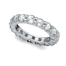 CRISLU Cubic Zirconia Large Brilliant Eternity Band .925 SZ- 7 NWT