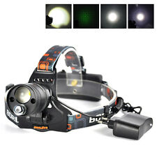 Hunting LTS LED/Green Laser Headlamp Focus Headlight Torch Flashlight+AC Charger