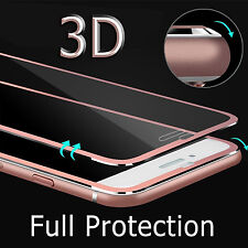 For iPhone 7 Plus 3D Cover Metal Full Tempered Glass Screen Protector Guard Film