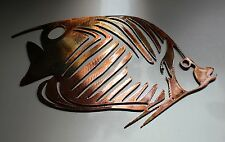 Aquatic Butterfly Fish Metal Decor copper/bronze plated