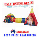 Childrens Kids Toddlers Babies Play Tent Cubby House Tunnel Gym Teepee Wigwam