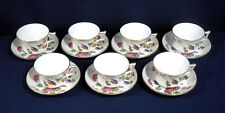 Wedgwood China Williamsburg CUCKOO 7 Cup and + Saucer Sets