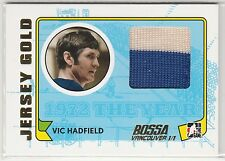 2009-10 ITG 1972 The Year In Hockey Game Used Jersey Gold #M31 Vic Hadfield /10