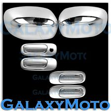 06-10 Dodge Charger Triple Chrome Plated Mirror+4 Door Handle Cover Kit
