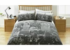 New York Skyline Reversible Double Duvet Cover Bedding Set NEW